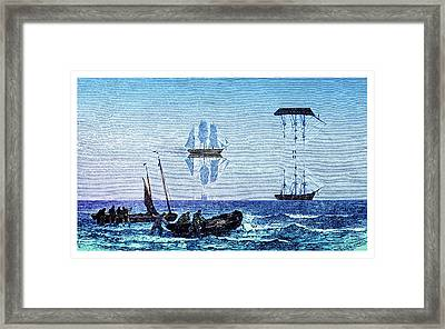 Inferior And Superior Mirages Framed Print by David Parker