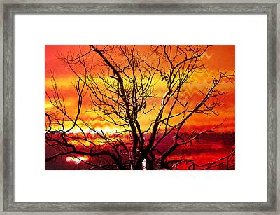 Inferno In The Sky Framed Print