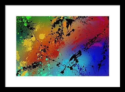 Brush Framed Prints