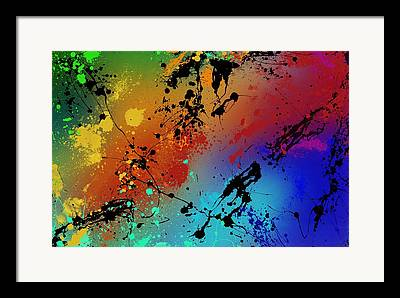 Paint Drips Framed Prints