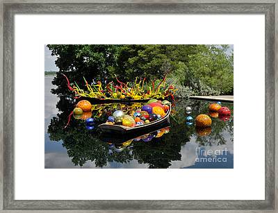 Infinity Boats Framed Print by Cheryl McClure