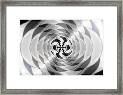 Framed Print featuring the drawing Infinity Bonded by Derek Gedney