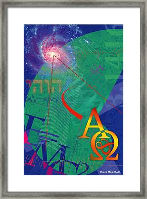 Framed Print featuring the digital art Infinity by Chuck Mountain