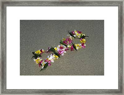 Infinity Lei Framed Print by Morris  McClung
