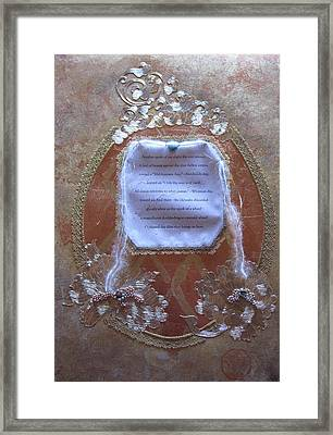Infinity Of Form Framed Print by Dan A  Barker