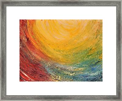 Framed Print featuring the painting Infinity by Teresa Wegrzyn