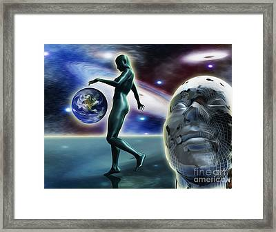 Infinity Vision Framed Print by Stefano Senise