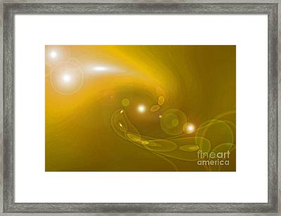 Infinity Yellow Framed Print by First Star Art