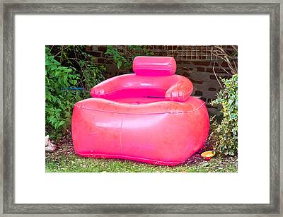 Inflatable Chair Framed Print by Tom Gowanlock