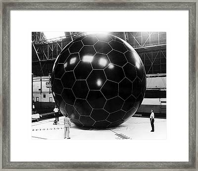 Inflatable Satellite Framed Print by Us Air Force