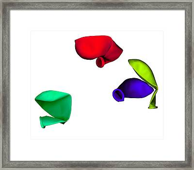 Inflated Idea 1 Framed Print by Julian Cook
