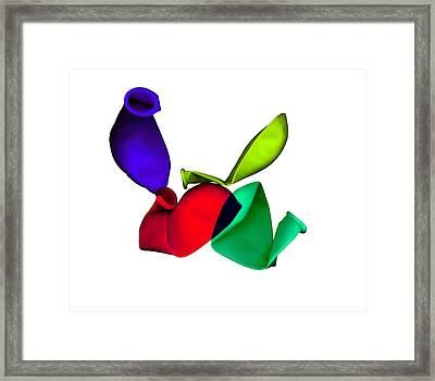Inflated Idea 2 Framed Print by Julian Cook