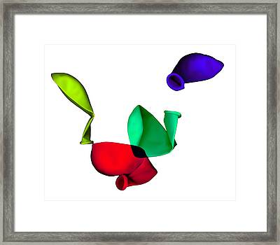 Inflated Idea 3 Framed Print by Julian Cook