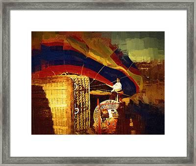Framed Print featuring the digital art Inflating by Kirt Tisdale