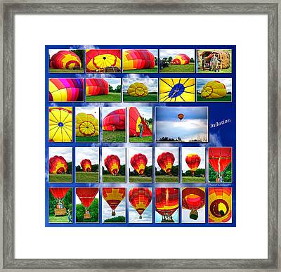 Inflation Hot Air Balloon Framed Print by Thomas Woolworth
