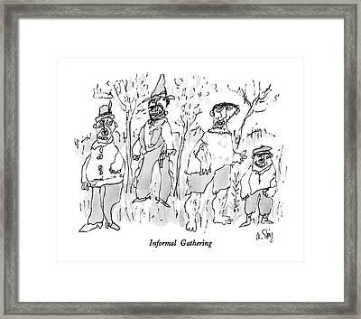 Informal Gathering Framed Print