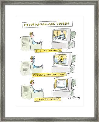 'information-age Losers' Framed Print by Mick Stevens