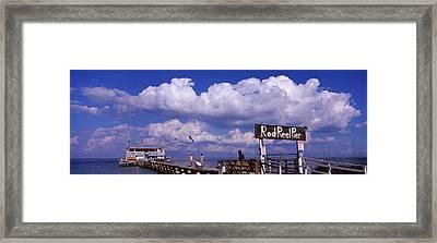 Information Board Of A Pier, Rod Framed Print