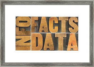 Information Data Facts Framed Print by Marek Uliasz
