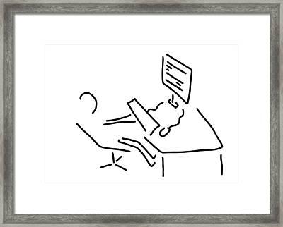 Information Scientist Nerd Computer Framed Print