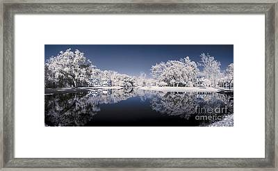 Infrared 180 Degree Panorama Framed Print