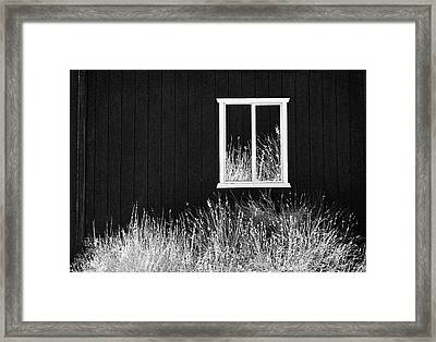 Infrared Barn Framed Print
