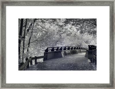 Infrared Bridge Framed Print by Joann Vitali