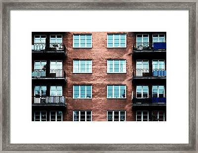 Infrared Building Framed Print by Stelios Kleanthous