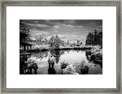 Infrared Fish Dock 2 Framed Print