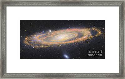 Infrared Image Of The Andromeda Galaxy Framed Print by Robert Gendler