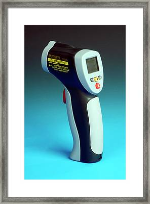 Infrared Laser Thermometer Framed Print