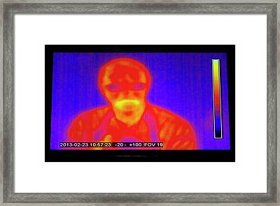 Infrared Man Framed Print