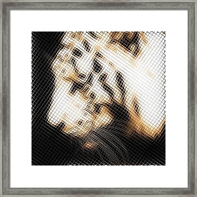 Infrared Orange Tiger Framed Print by Tommytechno Sweden