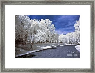 Infrared Road Framed Print