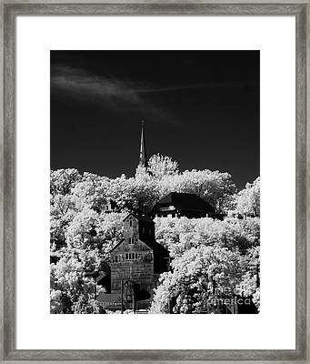 Infrared Stillwater Framed Print
