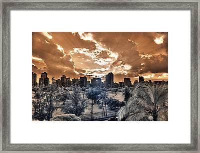 Infrared Sunset Framed Print