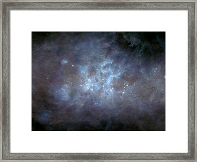 Infrared View Of Cygnus Constellation Framed Print