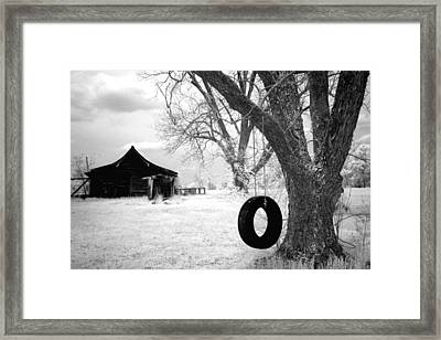 Infrared View Of Rural Alabama Framed Print