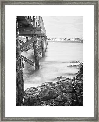 Framed Print featuring the photograph Infrared View Of Stormy Waves At Stramsky Wharf by Jeff Folger
