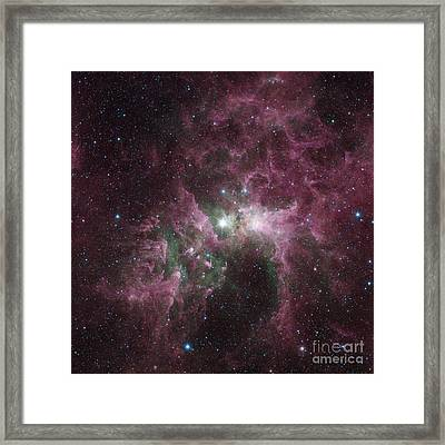 Infrared View Of The Carina Nebula Framed Print by Stocktrek Images