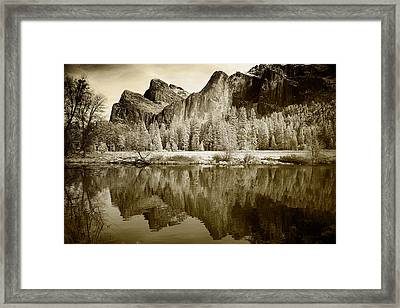 Infrared View Of Yosemite Framed Print