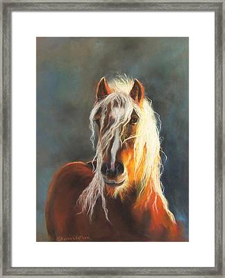 Framed Print featuring the pastel Ingalyl by Karen Kennedy Chatham