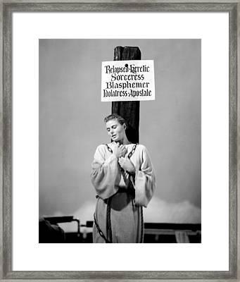 Ingrid Bergman In Joan Of Arc  Framed Print by Silver Screen