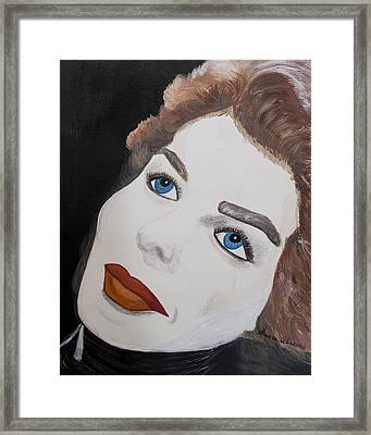 Ingrid From Casa Blanca Framed Print by Susan Abrams