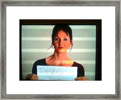 Ingrid Framed Print by Ingrid Van Amsterdam