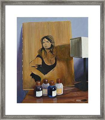 Ingrid On Cardboard Framed Print by Cathal Gallagher