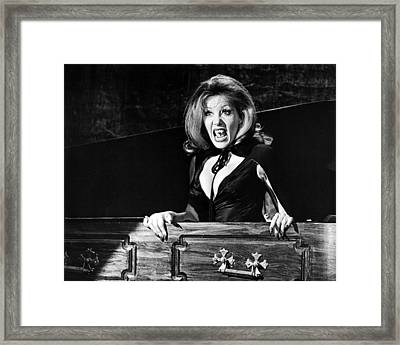 Ingrid Pitt In The House That Dripped Blood  Framed Print