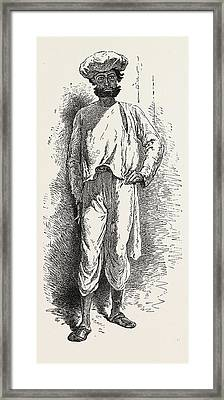 Inhabitant Of The Matheran Range Framed Print by Indian School