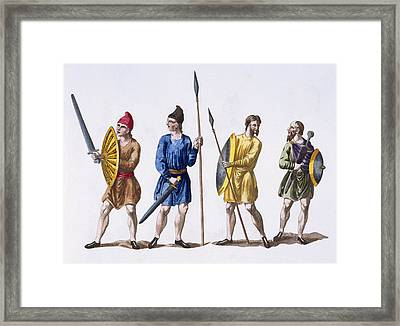 Inhabitants Of Britain Framed Print by English School