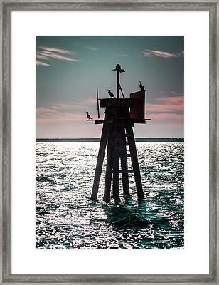 Inhale The Sea Framed Print by Karen Wiles